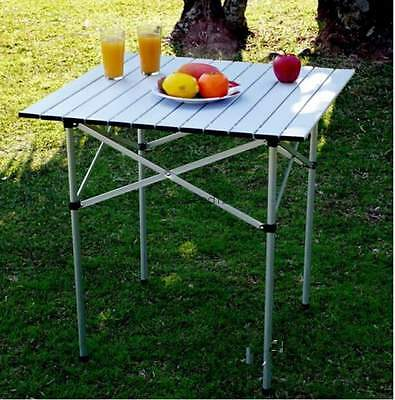 Camping Table Folding Camp Kitchen Aluminum Portable Outdoor Patio BBQ Picnic GS