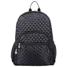 "Quilted Laptop Backpack Bookbag fits15"" Laptop Ipad Netbook Macbook Tablet"