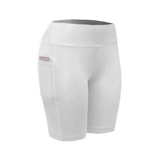 Women Compression Shorts Leggings Pocket Sport Gym Fitness High Waist Yoga Pants