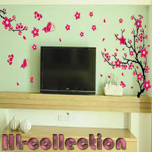 Flower Tree Romantic Living Wall Decor Vinyl Decal Stickers Removable LL14