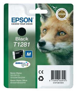 EPSON-T1281-TINTE-PATRONEN-SX125-SX130-SX230-SX235W-SX440W-SX445-DRUCKER-PATRONE