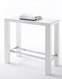 bartisch k chentisch tresentisch bistrotisch stehtisch weiss hochglanz 120x60 cm ebay. Black Bedroom Furniture Sets. Home Design Ideas