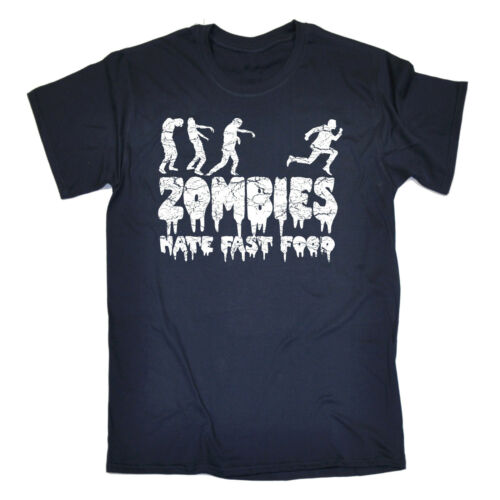 Zombies Hate Fast Food T-SHIRT Scary Halloween Scary Top Funny Gift Birthday