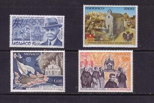 stamps-Monaco-SC-1834-1837-mnh