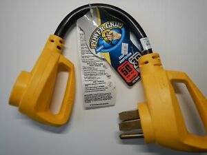Rv Dogbone Elec Adapter Powergrip Handles 50 Amp Male To 30 Amp Female Camco 18 14717551953 Ebay