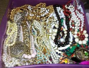 Vintage-Now-Jewelry-Lot-5-Pc-Mix-Wish-Box-NO-Junk-Necklace-Brooch-Resell-Gift