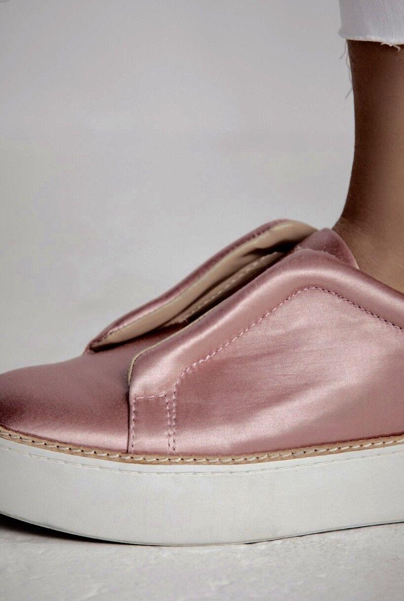 Nuevo En Caja Free People Satén rosado rosado rosado Resbalón en Zapatillas Grueso Suela De Goma blancoa 8 2a3cfe