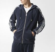X LARGE adidas Originals MEN'S Slim Fit  VELOUR TRACK TOP & TRACK PANTS  2PC SET