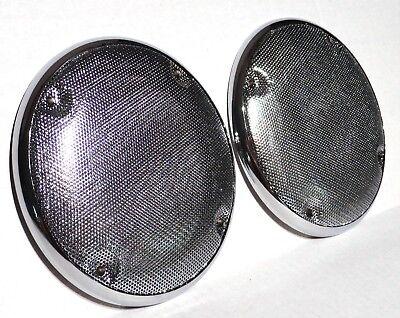 Speaker Covers 2 5 7 16 Quot Round Cab Ceiling Chrome Plastic