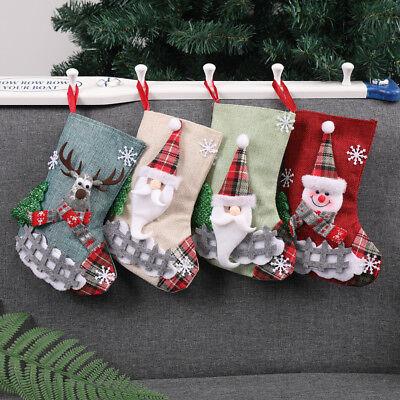 Christmas Xmas Tree Hanging Party Tree Decor Santa Stocking Sock Gift Candy Bags