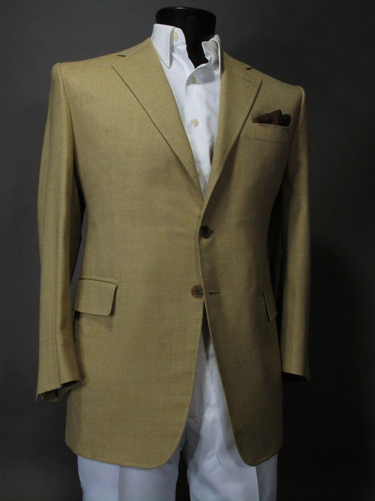 Uma Reddy NY Bespoke Savile Row Tailoring Sport Coat 42R Silk & Wool Blend