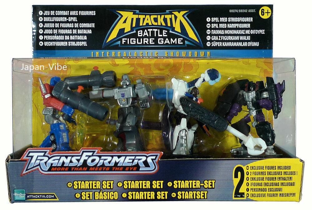Se ha cancelado el Attacktix Estrellater Conjunto de Transformers Optimus Prime Megatron G1 Hasbro