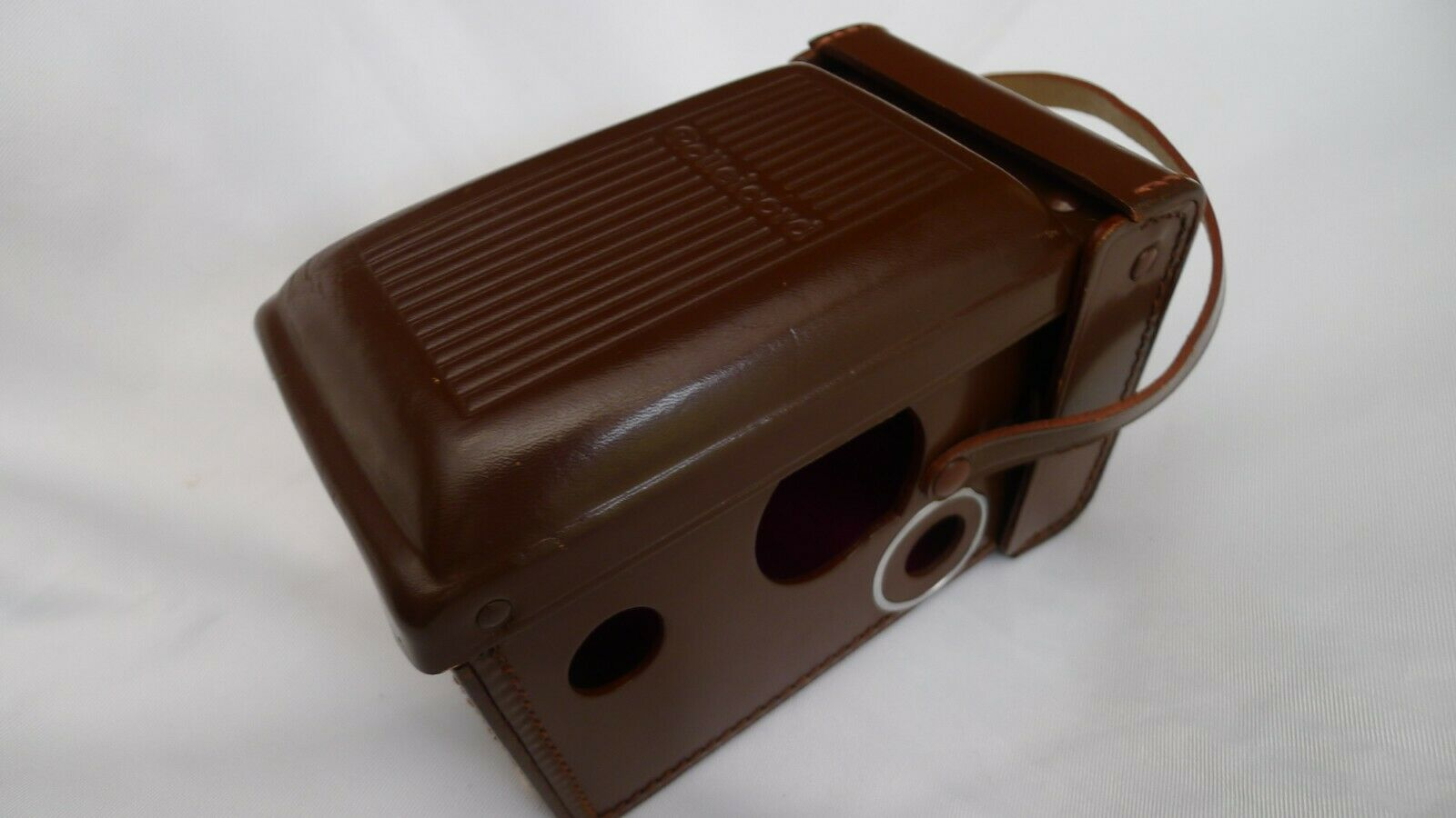 ROLLEICORD TLR Brown Leather Camera ERC Case Made in Germany with Hand Strap