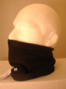 BLACK Neck Micro Fleece TUBE CHUBE SCARF New One Size