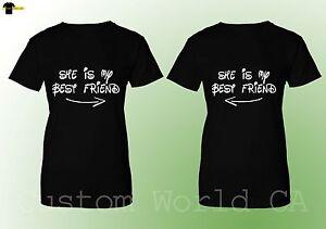 dd5f075bbe Couple T-shirt She is My Best Friend Arrows Best Friend BFF Matching ...