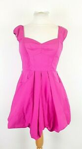 Armani-Exchange-Fuchsia-Pink-Stretch-Fit-and-Flare-Dress-Size-PO-XXS-Holiday