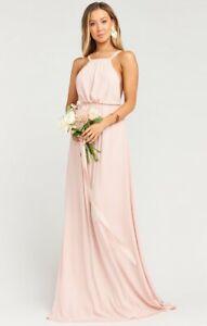 Amanda Maxi Dress ~ Dusty Blush Crisp   Mumu bridesmaid