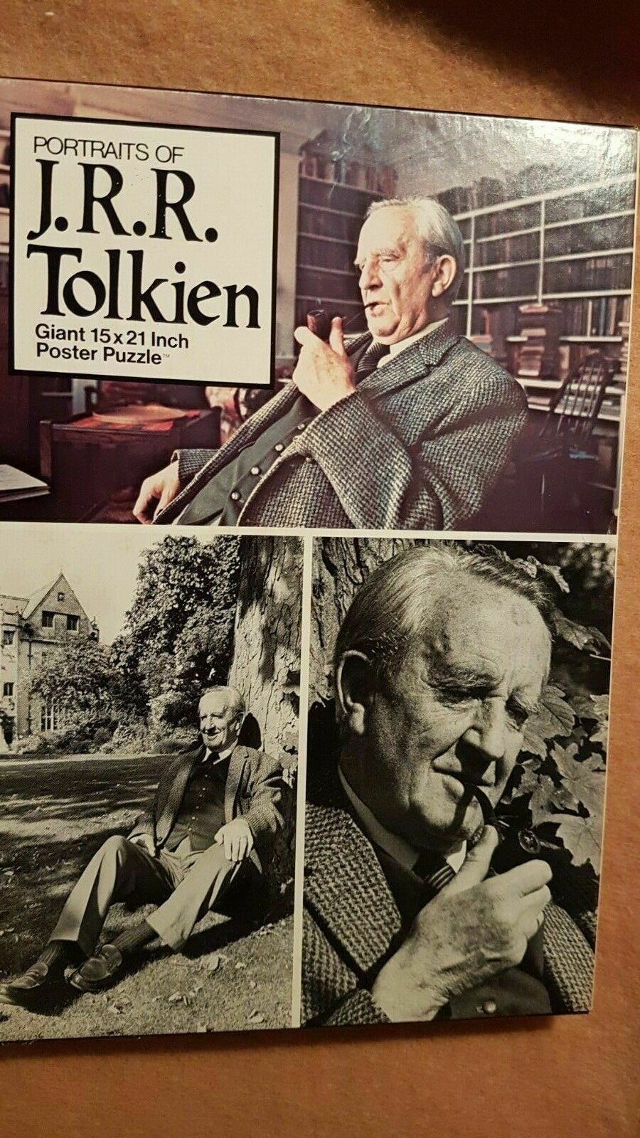 Lord of the Rings Portraits of J.R.R. Tolkien Poster Puzzle 15x21 Vintage 1977