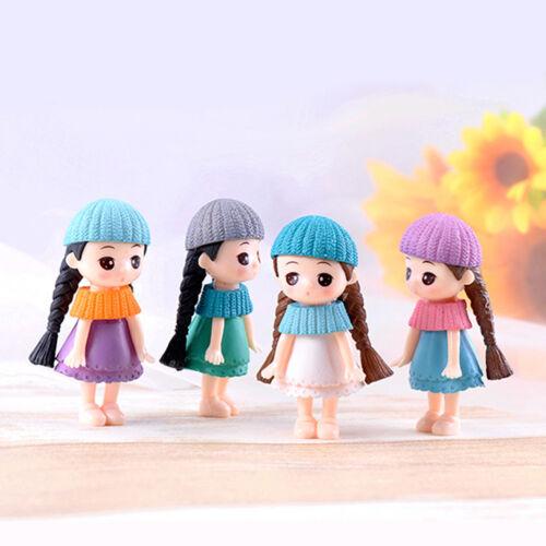 Cute House Miniature Fairy Garden Craft DIY Braid Girls Statues Desk Decor