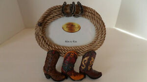 Treasured Times Picture Frame - Western Rope and Boots - NEW!!