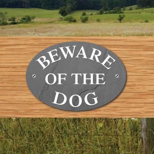 choix d/'ardoise effets Pet Gate signe CHIEN Plaque Beware Of The Dog Sign