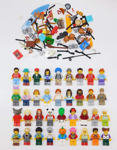 200 Lego Random Assorted Minifigures with Accessories Mini Figs All Body Parts