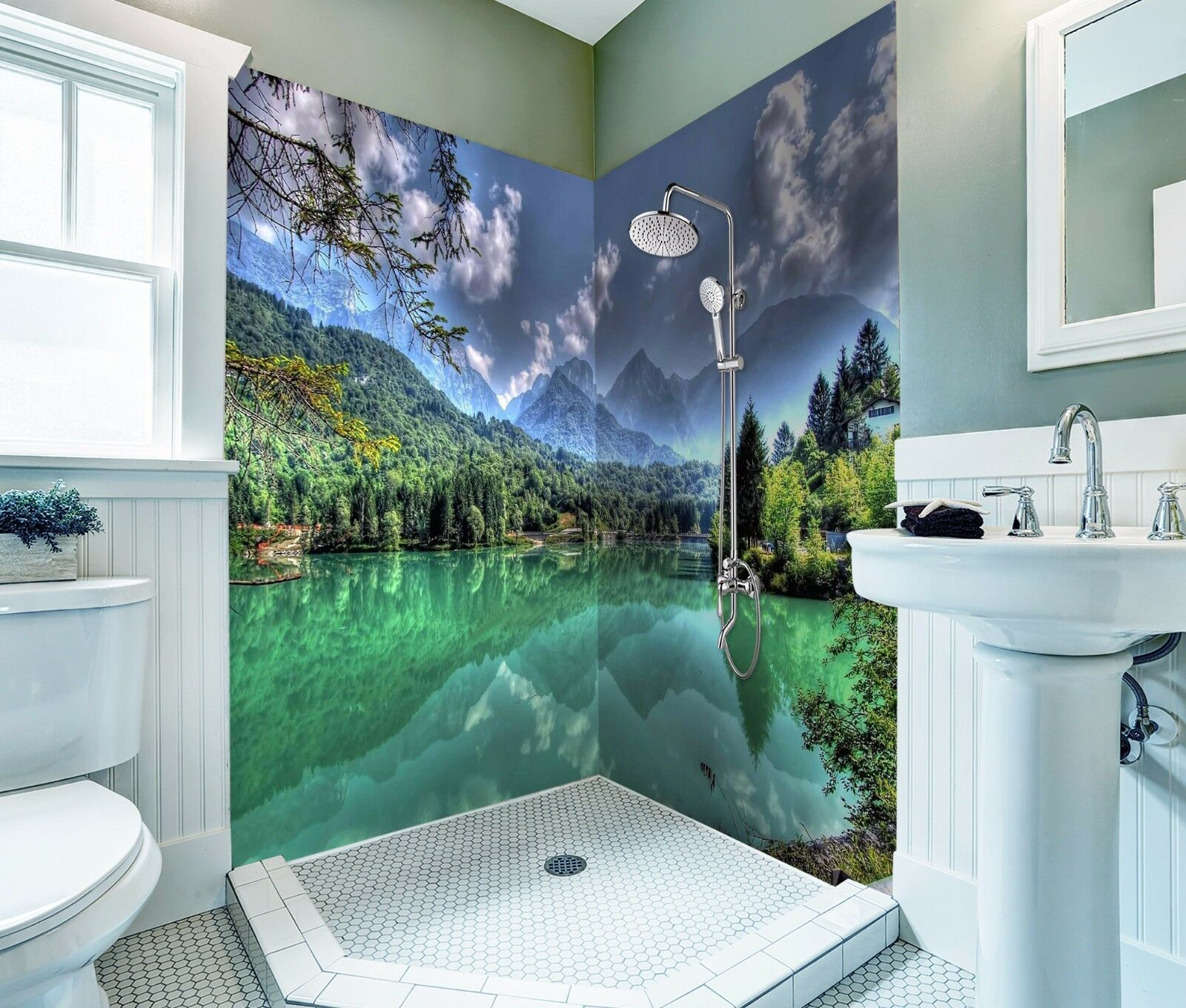 3D 3D 3D Mountain River 433 WallPaper Bathroom Print Decal Wall Deco AJ WALLPAPER AU 14ac45