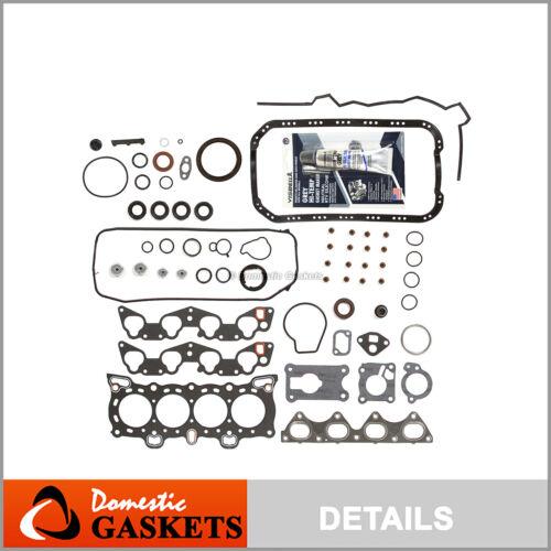 Fits 88-95 Honda Civic CRX De So 1.5 1.6 SOHC Full Gasket Set D15B2 D15B7 D16A6