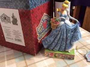 "V Rare Disney Tradition Cinderella 'spring Romance' 7"" Boxed Jim Shore"