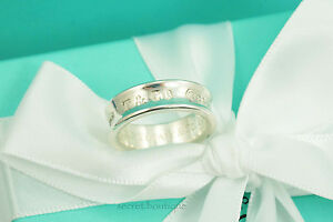 AUTHENTIC-Tiffany-amp-Co-1837-Wide-Ring-Size-7-75-232