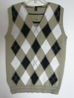 Benetton Boys Navy/beige/white Argyle Vest (8/9)
