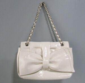 High-Fashion-Handbags-Patent-Leather-Bow-Chain-Shoulder-Bag-White
