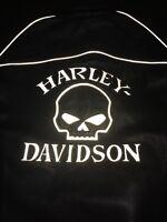 Harley Davidson Willie Reflective Skull Women's Leather Jacket Medium