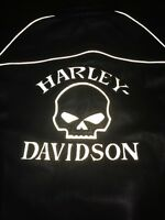 Harley Davidson Willie Reflective Skull Women's Leather Jacket Medium