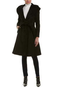 Cole Haan Women's Wool-Blend Wrap Coat Sz 4  500 NWT