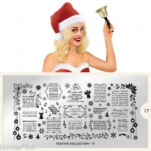 MoYou-London-FESTIVE-17-Collection-Stamping-Schablone-Weihnachten-Schrift