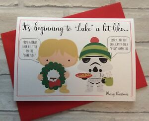 Personalised cute star wars inspired christmas card funny image is loading personalised cute star wars inspired christmas card funny m4hsunfo
