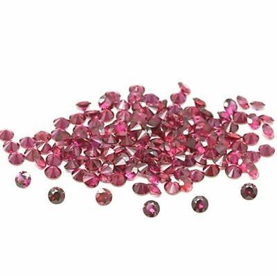 Venta al por mayor Lote de 1.5mm Redondo Facetado Rodolita Suelto calibrado Piedras Preciosas