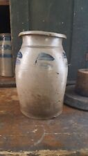 Antique decorated pa stoneware crock jar attributed to G & A BLACK Somerfield pa