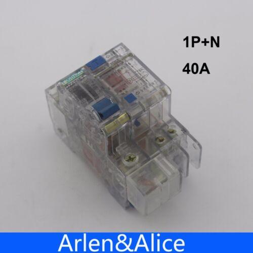 Transparent 1P+N 40A 230V~ 50HZ//60HZ Residual current Circuit breaker RCBO