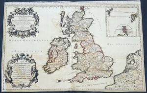 1692-Alexis-Jaillot-Large-Antique-Map-of-Great-Britain-amp-Ireland