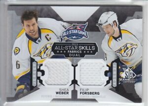 2015-16-UD-SPGU-WEBER-FORSBERG-JERSEY-ALL-STAR-SKILL-RELIC-SP-GAME-USED-Predator
