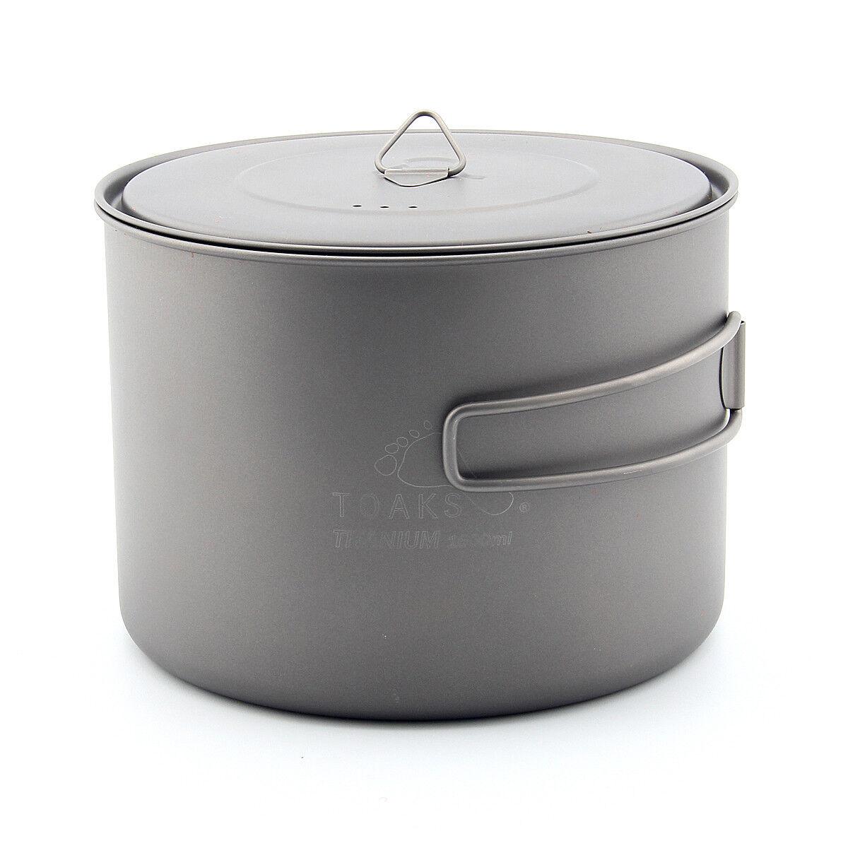 TOAKS POT-1600 POT-1600-BH Titanium Pot cup Outdoor Camping Pot with Lid 1600ml