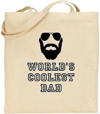 Weltweit Kühlsten Dad Groß Baumwolltasche Einkaufstasche Vatertag Papa