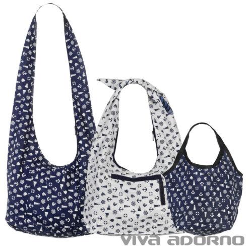 Summer Bag Navy Anchor Nautical Shoulder Bag Cloth Bag Pouch Bag BT18