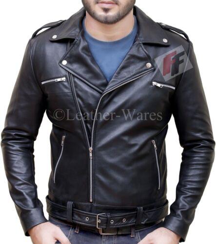 Leather Jacket Jeffrey Dean Morgan The Walking Dead Negan Black