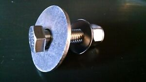 """Stainless Outboard Transom 4/"""" Mounting Bolts Washers Lock Nuts Set of 4"""
