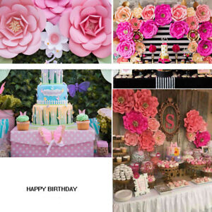Image Is Loading 2 20pcs Large Paper Flowers Backdrop Birthday Wall