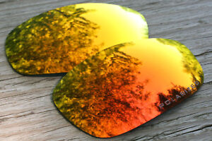 a2036320b0 Image is loading Polarized-Orange-Red-Mirrored-Sunglass-Lenses-for-Oakley-