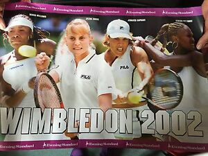 2002 für Promo Abend Wimbledon WilliamsCapriatiDokic den Poster Abend rxCWdoBe